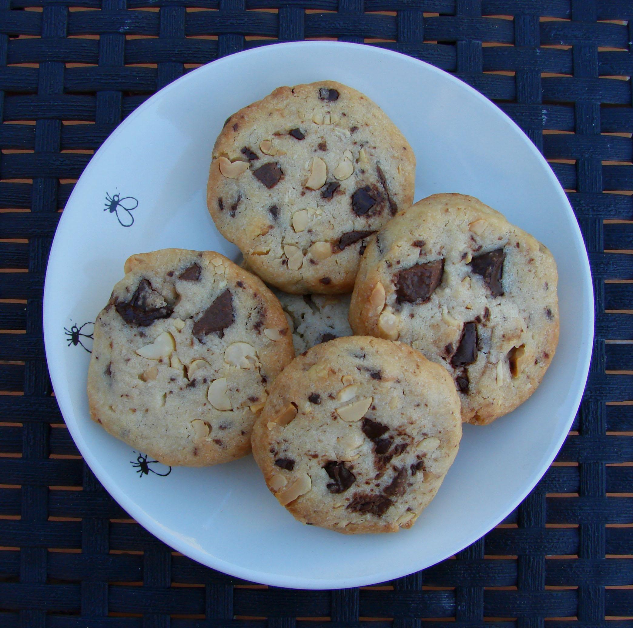 Batonnets Au Chocolat Et Aux Cacahuètes: Biscuits Aux Cacahuètes Et Pépites De Chocolat (grosses