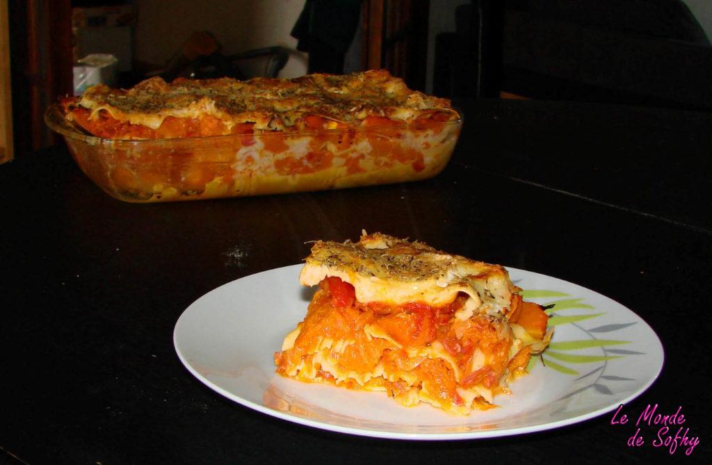 Lasagnes au potiron, chèvre et chorizo