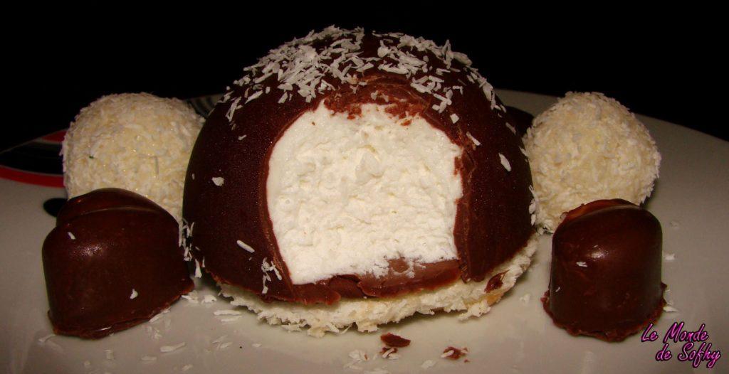 Dôme glacé à la noix de coco