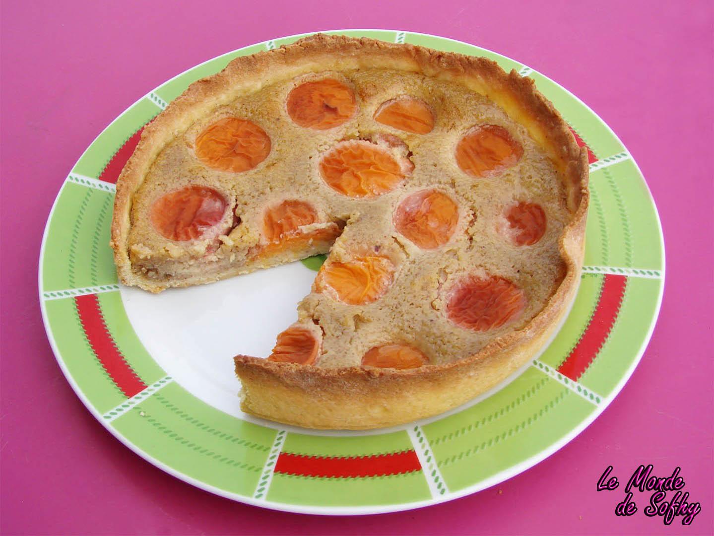 Tarte aux abricots et à la pistache