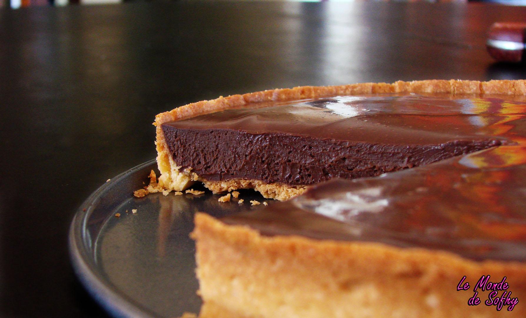 tarte au chocolat de Frédéric Bau
