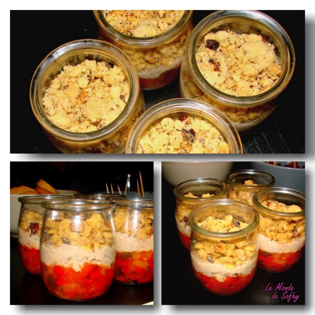 Crumble poivrons, maqueraux, thon