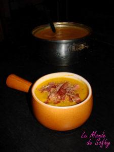 Soupe de panais, carotte et patate douce