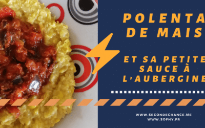 Porridge de maïs, sauce tomate à l'aubergine et citron confit